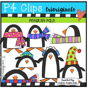Penguin Pals {P4 Clips Trioriginals Digital Clip Art}