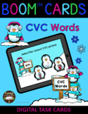 Penguin Pals Winter CVC Words and Pictures BOOM Cards™