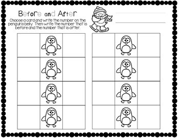 Penguin Pals: before and after cards with differentiated printables