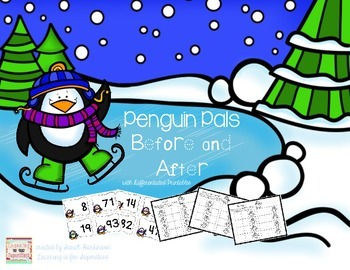 Penguin Pals: before and after cards with differentiated p