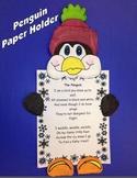 Penguin Paper Craftivity