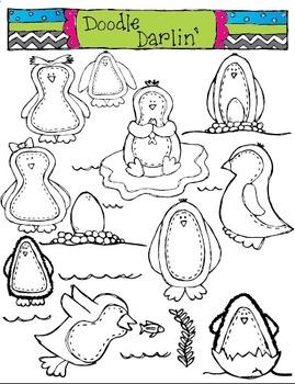Penguin Parade COMOB Clipart Set