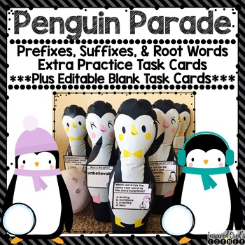 Prefixes, Suffixes, and Root Words Task Cards