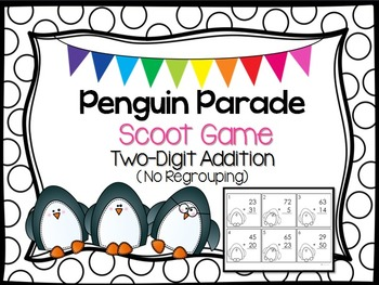 Penguin Scoot~ Two-Digit Addition {No Regrouping}