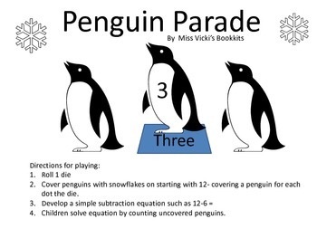 Penguin Parade Subtraction Game
