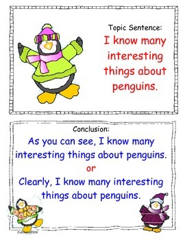 Penguin Paragraph Writing for First Graders