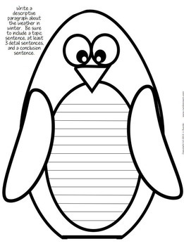 Penguin Paragraphs - A December Literacy Craftivity