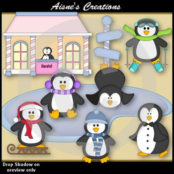 Penguin Park Clip Art Pack