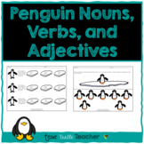 Penguin Parts of Speech-Nouns, Adjectives, Verbs-Center Activity and Practice