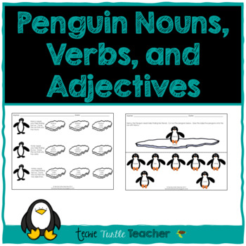 Penguin Parts of Speech-Nouns, Adjectives, Verbs-Center Ac