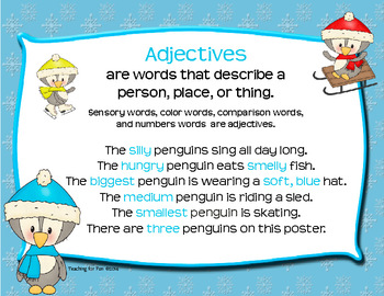 Penguin Parts of Speech Posters
