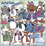 Penguin Party Clip Art - Penguin Clip Art - Winter Clip Ar