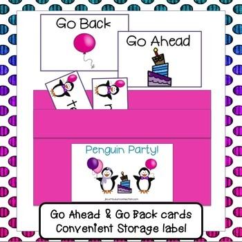 Penguin Party Path Game {EDITABLE}