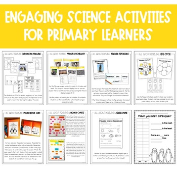 Penguins Unit: Fact Pages, Life Cycle, Interactive Notebook Pages and More