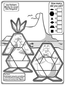 Penguins / Winter Pattern Block Puzzle -- Freebie!
