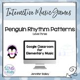Penguin Patterns Level 3: An interactive rhythm pattern game