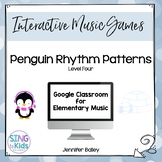 Penguin Patterns Level 4: An interactive rhythm pattern game