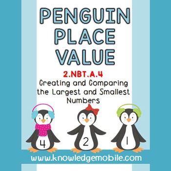 Penguin Place Value - 2.NBT.A.4 - Comparing Three Digit Numbers
