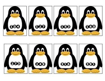 Penguin Place Value Game 1.NBT.2