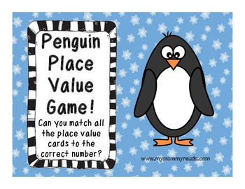 Penguin Place Value Game CCSS NBT, First grade!