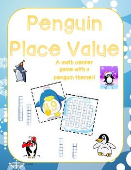 Penguin Place Value Math Center