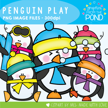 Penguin Play Clipart