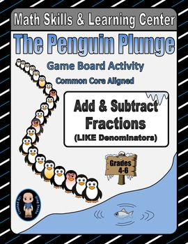 Winter Math Skills & Learning Center (Add & Subtract Like Fractions)