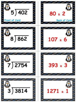 Winter Math Skills & Learning Center (Division with 3- & 4-Digit Dividends)