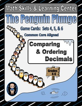 Penguin Plunge Game Cards (Compare & Order Decimals) Sets 4-5-6