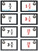 Penguin Plunge Game Cards (Improper Fractions & Mixed #'s)