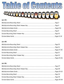 Penguin Plunge Game Cards (Multiply & Divide Fractions) Sets 4-5-6