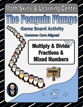 Winter Math Skills & Learning Center (Multiply & Divide Fractions)