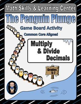 Winter Math Skills & Learning Center (Multiply & Divide Decimals)