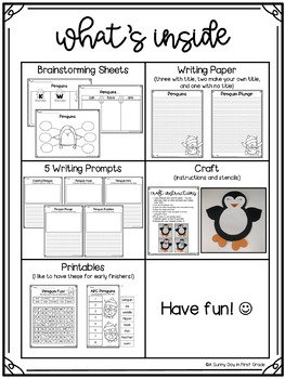 Penguin Plunge {writing craft & printables!}