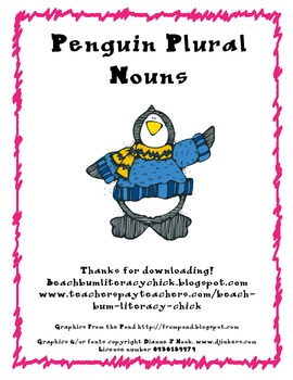 Penguin Plural Nouns - Activity Pack