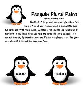 Penguin Plural Pairs (-s)
