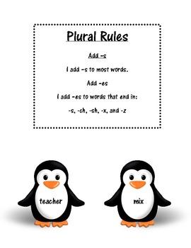 Penguin Plurals -s and -es