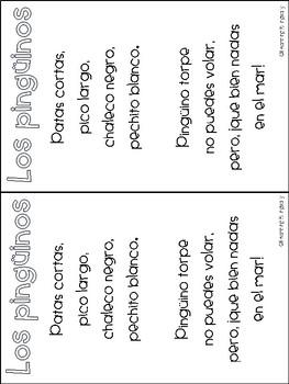 Penguin Poem in Spanish
