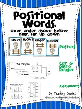 Penguin Positional Words Unit with Posters