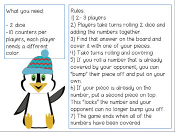 Penguin Power Addition Bump Game
