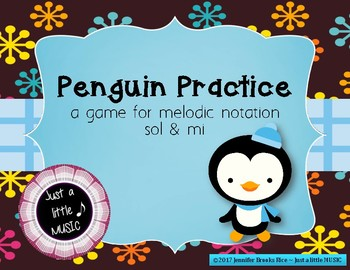 Penguin Practice - Interactive Practice Game for Notation {sol mi} lines