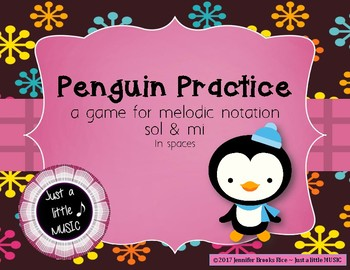 Penguin Practice - Interactive Practice Game for Notation {sol mi} spaces