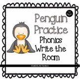Penguin Practice: Short & Long Vowels, Digraphs & Blends Write the Room Activity