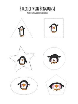 Penguin Pre-Writing Practice