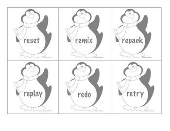 Penguin Prefix Word Sort - (un- and re-) Common Core