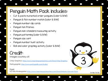 Penguin Preschool and Kindergarten Math Pack