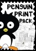 Penguins Print and Go Packet
