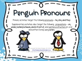 Penguin Pronouns – Winter Language Activities with a Penguin Theme