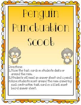 Penguin Punctuation Scoot Game