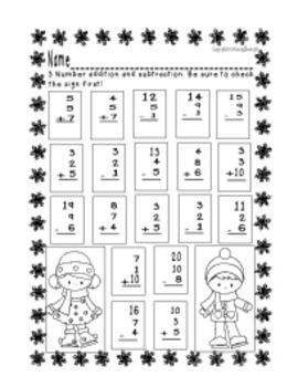 Penguin Push:  Practicing First Grade Addition Strategies